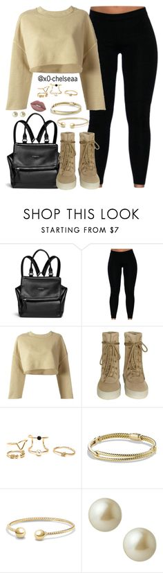 """""""Yeezy"""" by x0-chelseaa ❤ liked on Polyvore featuring Givenchy, adidas Originals, David Yurman, Carolee and Lime Crime"""