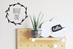 Brave One Die Cut - WALL DECAL #boys-wall-art #boys-wall-decal #brave-wall-art