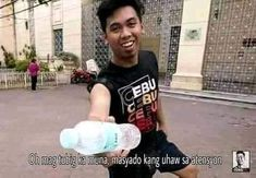 Tagalog Quotes Funny, Pinoy Quotes, Funny Relatable Memes, Filipino Memes, Filipino Funny, Meme Faces, Funny Faces, Reaction Face, Current Mood Meme