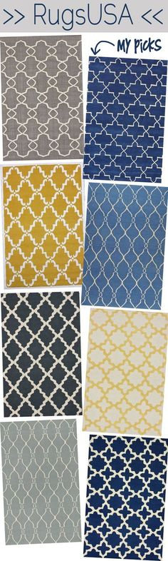 Remember this site for inexpensive rugs.  Mine are getting old an have been spilled on so many times, I think this is necessary in the nearer future.