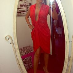 BCBG MAXAZRIA RUNWAY Paparika Dress 8 NWT Super Sexy Low Cut Red Dress. Limited edition and sold out! Perfect for Valentine's Day! BCBGMaxAzria Dresses