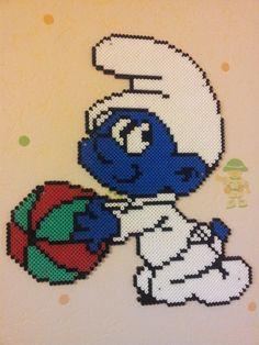 Baby Smurf hama beads by Perlergirls