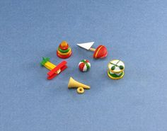 Dollhouse Miniature Set of 6 Wooden Toys #HD516