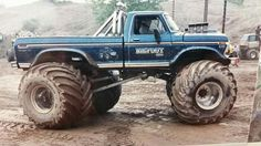 ♡♡♡♡♡ 1979 Ford Truck, Old Ford Trucks, Lifted Trucks, Big Monster Trucks, Monster Jam, Cool Trucks, Cool Cars, Classic Ford Trucks, Old Fords