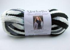 Starbella Ruffle Scarf Yarn by Premier: Night Clouds by PurpleOkapiStudio, $6.75