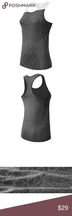 New Balance M4M Seamless Tank WT53155 Black Brand New, With Box, 100% Authentic  New Balance WT53155 New Balance  M4M Seamless Tank  Women's Size: L Original Price: $44.99  Color: Black  More style and size on: 1) K&F Facebook page : https://www.facebook.com/stkandf/shop 2) ebay shop: http://stores.ebay.com/kf 3) https://www.bonanza.com/booths/henrylhg 4) http://www.buyalot.net  Thank you for looking at my item. New Balance Tops Tank Tops