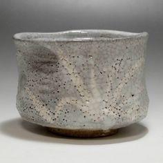 NEZUMI SHINO CHAWAN - Modern Gray Japanese Crackle Glaze Pottery Tea Bowl #2097 - ChanoYu online shop