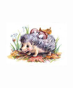 Love this drawing Hedgehog Illustration, Autumn Illustration, Cute Illustration, Watercolor Illustration, Watercolor Art, Cute Animal Drawings, Animal Sketches, Art Drawings Sketches, Cute Drawings