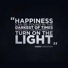 Happiness... [ Albus Dumbledore ]