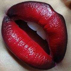 What Red Lip with Black Liner