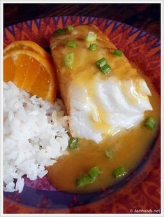 Jam Hands: Chilean Sea Bass with Orange Mango White Wine Reduction...serve with herb infused orzo :-)