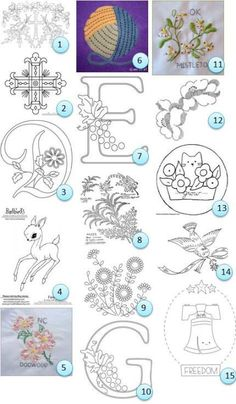 Patrones de bordado a mano gratis | Costura Noticias | CraftGossip.com