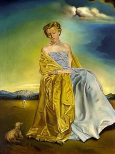 Salvador Dali - Portrait of Mrs. Eric Phillips 1953