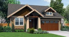 This plan offers all the charm of a mountain lodge yet is designed for an urban setting.  Affordable and efficient with outstanding curb appeal achieved by the well detailed exterior design makes this plan a winner.