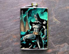 FN453++Batman+Decorated+8oz.+Flask+by+dnacreations+on+Etsy,+$18.00