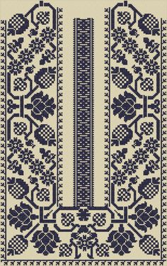 Cross Stitch Geometric, Cross Stitch Art, Cross Stitch Borders, Crochet Borders, Cross Stitch Designs, Cross Stitching, Cross Stitch Patterns, Polish Embroidery, Folk Embroidery