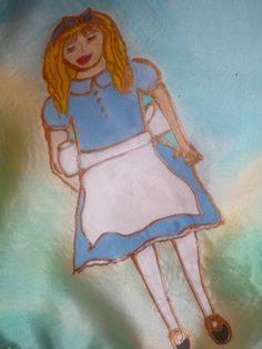 Handpainted Silk Scarf  'Alice IN Wonderland' By by thesilkmaid, $40.00
