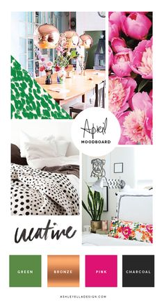 In My Creative Opinion: Ellen Hutson April Pin-Sights Challenge Graphic Design Inspiration, Color Inspiration, Moodboard Inspiration, Inspiration Boards, Colour Story, Color Stories, Branding Design, Identity Branding, Corporate Design
