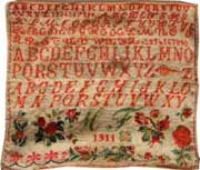 An Early 20th Century French Sampler Dated 1911