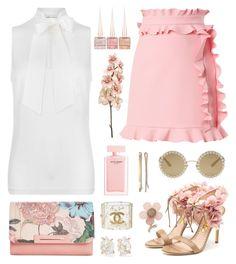 """Pastel Flowers"" by pink-quartz ❤ liked on Polyvore featuring Rupert Sanderson, MICHAEL Michael Kors, MSGM, Miss Selfridge, Danielle Nicole, Melissa Joy Manning, Christian Louboutin, Madewell, Dolce&Gabbana and Chanel"
