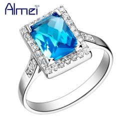 Find More Rings Information about Fashion Pink Wedding Rings Ruby Silver Plated Jewelry Women Purple Rainbow Ring Square Blue CZ Diamond Bijoux Red Anel Gift J073,High Quality finger printer,China accessories captiva Suppliers, Cheap fingering guide from Almei Jewelry Store on Aliexpress.com