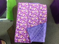 purple Disney Frozen with purple stars dimple. small blanket for travel or in the stroller.