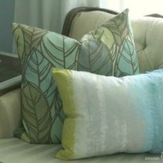 Sweet placemat pillow: cheap and easy