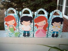Ariel and Her Guy  Inspired Gable Favor Boxes Set of 12 by zbrown5, $14.40