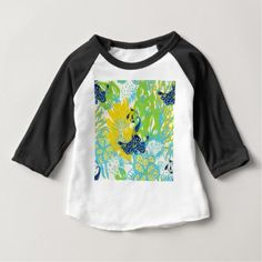 floral peacock baby T-Shirt - retro clothing outfits vintage style custom