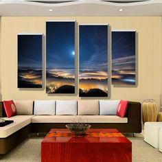 infinite worlds Multi Panel Canvas