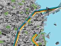 Hand-Drawn Map Shows San Francisco in All its Swirling, Unpredictable Glory - Curbed SF