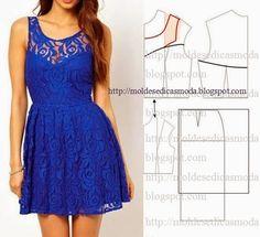 35 modelos y patrones de vestidos para dama…
