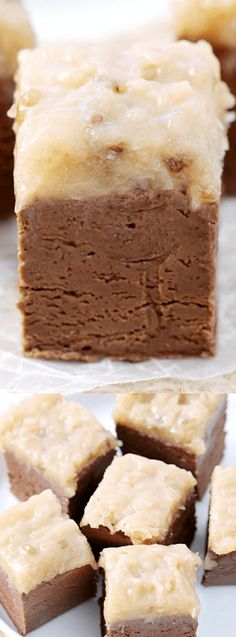 This German Chocolate Fudge from Love Bakes Good Cakes is the perfect sweet treat if you're craving something sinfully chocolaty and delicious!