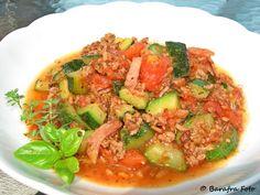 Barafras Kochlöffel: Zucchini-Hackfleischpfanne à la Barafra