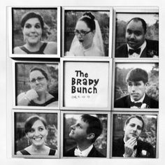 Brady bunch picture frame with bridal party
