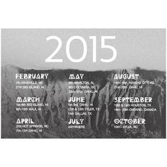 2015 Photography schedule // Christina Heaston//  2015 is looking pretty fun so far! We're excited to travel a bit, meet new people, and to find beauty in every single day. If we will be in or near your city and you'd like to book a shoot, grab a drink, or show us all the local spots, email christinaheaston@gmail.com and we will set something up! We still have several weekends available and July is WIDE OPEN. Hope to see you in 2015! // christinaheaston.com