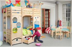 Cute bunk bed. The girls would die!!!