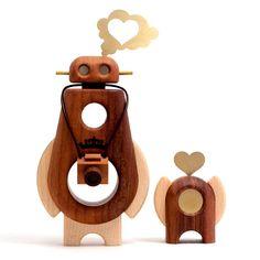 Arborobots Pepe Hiller #toys #wood #robots