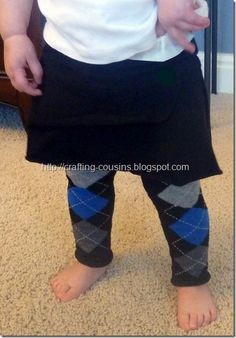 No sew baby leggings made from socks!  This is a fast, cheap, easy, cute and warm way to winterize your baby's summer wardrobe.