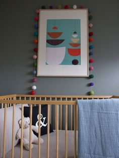 Retro Nursery by Empire Lane Design. Cute clean and simple