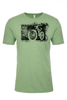 It's what you feel when you start down the trail and leave the world's troubles behind, relief. It's also the corner stone of this tee, showcasing a relief print of one of our favorite downhill bikes. #mountainbikeshirt