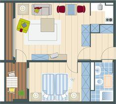 Bildergebnis für betreutes wohnen grundriss Floor Plans, Assisted Living, Floor Layout, Architecture, Pictures, Floor Plan Drawing, House Floor Plans
