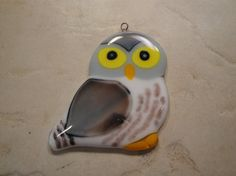 Fused Glass Owl Ornament BHS01730 by BlackHillStudios on Etsy, $26.00