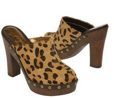 Animal Print Leopardo zuecos