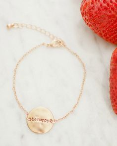 Be Happy<br>Charm Bracelet