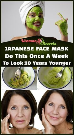 Skin care face mask - Japanese Face Mask Do This Once A Week To Look 10 Years Younger Anti Aging Facial, Anti Aging Skin Care, Natural Skin Care, Natural Makeup, Avocado Mask, Cucumber Face Mask, Japanese Face, Face Skin Care, Face Face
