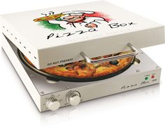 """Features:  -Fun and unique design.  -Cooks up to a 12"""" pizza.  -Rotating cooking surface.  Finish: -White.  Material: -Metal.  Hardware Material: -Stainless steel.  Product Type: -Countertop pizza ove"""