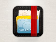 Dribbble - Card App Icon by Dennis Lee