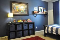 A Touch of Tyrell: Vintage & Car Themed Little Boy Room Big Boy Bedrooms, Baby Boy Rooms, Kids Bedroom, Bedroom Decor, Bedroom Ideas, Bedroom Designs, Little Boys Rooms, Master Bedroom, Vintage Car Bedroom