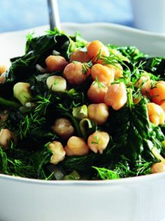 23-1 SALATA REBITHIA SPANAKI_anoigmaolive magazine.gr Black Eyed Peas, Greek Recipes, Healthy Salads, Types Of Food, Seaweed Salad, Beans, Vegetables, Cooking, Ethnic Recipes